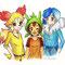 Fennekin, Chespin e Froakie - Pokemon