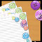 Buttons Notepaper (with lines) - Printable PDF - $1.50