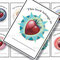 'Strawberry circles with delicious backgrounds (Design #1) - Book Labels - Printable PDF - $1.50