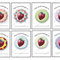 'Strawberry circles with delicious backgrounds - Book Labels - Printable PDF - $1.50