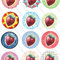 Strawberry Circles - Delicious Backgrounds - Printable PDF - $1.50