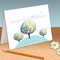 'Three Trees' card with fancy envelope (available in small or mini size) - Printable PDF - $1.50