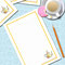 'Teapot' Notepaper (with lines) - Printable PDF - $1.50