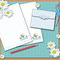 'Three Trees' Notepaper (Both Lines and Blank)  with Matching Envelope and guide sheet - Printable PDF- $1.50