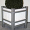 Pflanzkübel HLP- Mod. F/M, Stahl feuerverzinkt + Holz