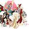 2014.5.14画材:鉛筆,デジタル アニメ×アート展in吉祥寺のキービジュアル。出展者5名+1名をアニメキャラクター風にデザインしました。実際の人物とは関係ありません。。。(多分)