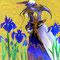 2014.7 画材:鉛筆,デジタル,アクリル,油絵 「燕子花の騎士」