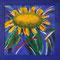 Sonnenblume – Acryl auf Malplatte, 60 x 60 cm, mit Holzrahmen 72,5 x 72,5 cm