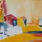 Küstenstadt –Acryl, 90 x 40 cm