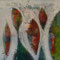 Wunschblumen II – Acryl, 60 x 60 cm