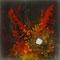 Glut der Erde – Gouache, Holzkohle, Asche, Lavaerde, 50 x 50 cm
