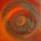 Visionen II – Gouache, Hämatit & Eisen, 50 x 50 cm