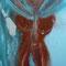 Inmitten – Erlaubnis zur Göttin – Gouache, Collage + Edelsteine, 90 x 160 cm