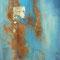 Aus der Tiefe – Gouache, Eisen & Blattgold, 40 x 65 cm
