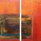Durchblick – Acryl & Eisen, 2-tlg., je 40 x 40 cm