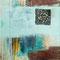 So gesehen... – Acryl & Eisen auf Pappwabenplatte, 30 x 30 cm