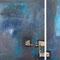Zwischentöne – Gouache & Schlagmetall, 2-tlg., 50 x 50 und 25 x 50 cm