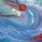 Aufbrechen–Ausbrechen – Gouache, 140 x 90 cm