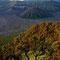 Die Morgensonne beleuchtet das Tal langsam mit dem gewaltigen Vulkankessel des Mont Bromo.