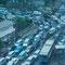 Jakarta, der Verkehr fliesst meistens nicht so flüssig.