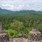 Yogyakarta. Borobudur, auf der Terrasse hat es insgesamt 72 Stupas.