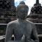 Yogyakarta. Borobudur, erst im Jahre 1814 wurde die Tempelanlage wieder durch Holländer entdeckt.