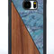 Galaxy s8 wooden case blue seashell