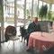 Fulvio beim ersten Besuch im Café - 03.2013