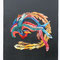 「鳳凰」 F3(273x220mm)キャンバス、刺繍、アクリル