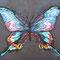 「蝶」、 F0(180x140mm)キャンバス 刺繍、アクリル