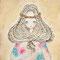 「ラフィエル」        F3キャンバス        刺繍,アクリル
