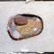 「アンティカの石」  F0 キャンバス(180×140mm)  刺繍、メディウム、新聞紙