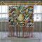 「チクセキ」      250×250×90cm     刺繍,アクリル,油彩,メディウム