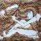 「はこ少女」         F0(180x140mm)キャンバス      刺繍,パステル,ペン