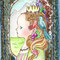 「congratulation」         9×14cm               刺繍,色鉛筆,ペン