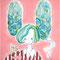 「少女B」         F3(273x220mm)キャンバス     刺繍,アクリル,パステル