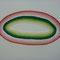 「水玉」 F8キャンバス(380×455)  刺繍、メディウム