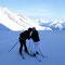 Skifahrer in ihrem Element...