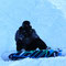 Skifahrer, sorry... Snowboarder in ihrem Element...