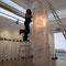 Präsentation eines prämierten Architekturbüros im H2, Lichtinstallation aus den Skizzen der Architekten