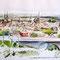 Hans Wittl: Blick vom Langen Turm über Aachen mit Dom und Rathaus