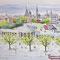 Hans Wittl: Elisenbrunnen mit Dom und Rathaus