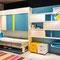 Мебель-трансформер: двухъярусная шкаф-стол-кровать Twin F-T