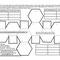 Abgestumpftes Oktaeder blanko Musterflächen