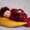 Спящий гномик. Игрушка для ребенка. Вальдорфский стиль.