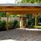 Carportbau komplett, mit Dachbegrünung