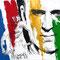 Julien Absalon - Technique mixte sur papier - 70 x 70 cm - 2016 - Coureur cycliste français de VTT cross-country. Double champion olympique  (2004 - 2008) - quintuple champion du monde <br><br>Illustration . dessin . VTT . sport