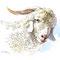 """Chèvre angora - Élevage """"Ferme sous les Hyez"""" Cornimont -  Encre couleur et crayon noir sur papier - 30 x 20 cm - 2017<br><br>Illustration . dessin . animalier . animal"""