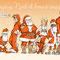 Casting - Carte de voeux - illustration pour l'Imagerie d'Epinal - 2012<br><br>Illustration . dessin . peinture . père noël
