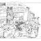 Illustration pour carte de voeux transports Simonin - 21 x 15 cm - 2010<br><br>Illustration . dessin humouristique . peinture . transport routier